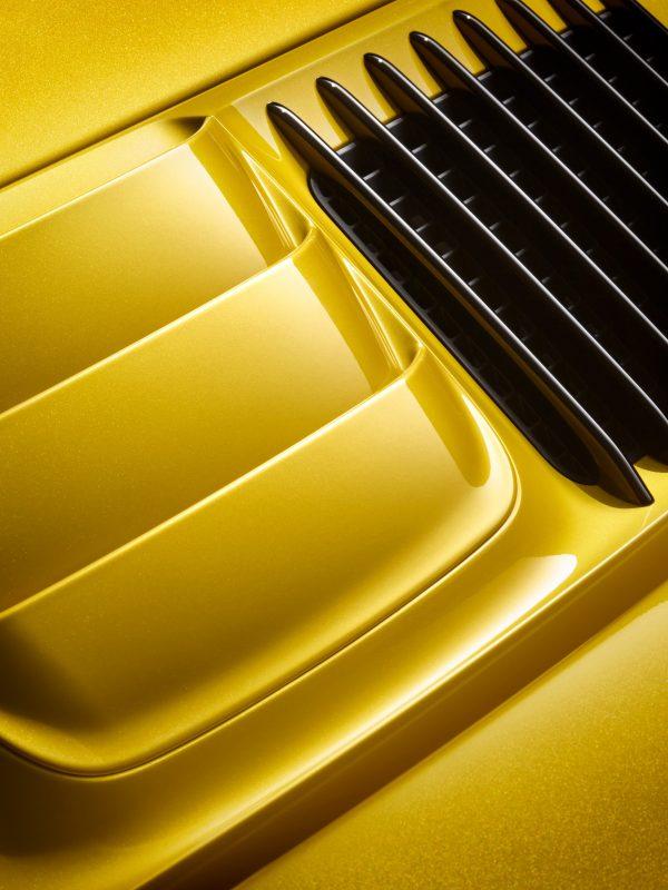 911 Turbo S – CFK Felge, Saffran Sonderlackierung